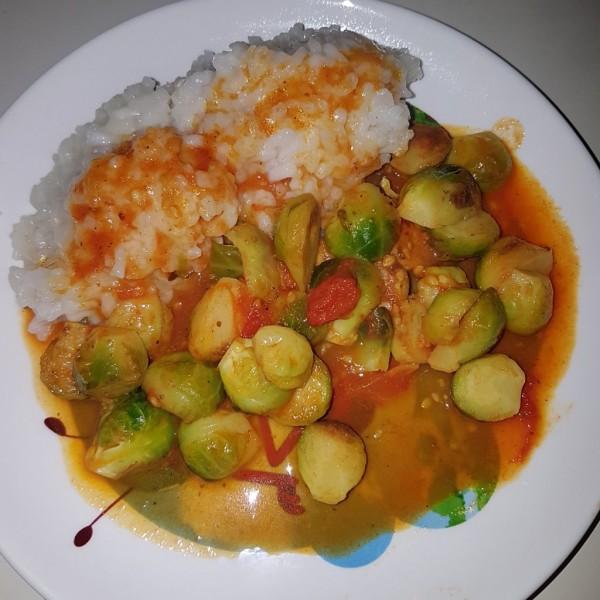 Ružičkový kel s ryžou